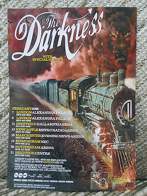 The Darkness - One Way Ticket To Hell & Back Uk Tour Flyer / Poster 2006