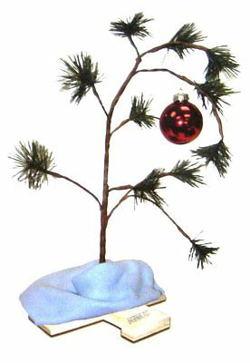 "18"" Charlie Brown Christmas Tree Classic Red Bulb with Linus' Blue Blanket"