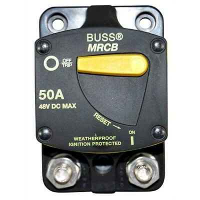 Bussman 187 Series 50 Amp Blue Sea 7139 DC Circuit Breaker Surface Mount