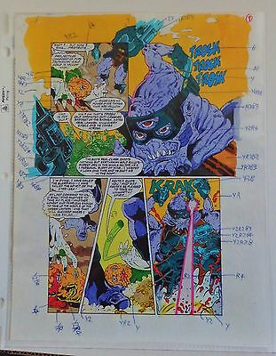 Green Lantern Quarterly #4 Pg. 6 1993 Original Painted Production Art-A Gl Dies!