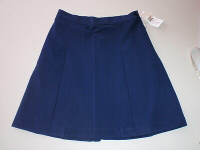 BULK x 3 BNWT GIRLS SIZE 18  SCHOOL WEAR SKIRT - NAVY - WAIST 80cm DZ