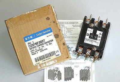 Eaton Cutler Hammer Contactor 60 Amp 3 Pole 24 V. Coil, 75 Amp Res., C25FNF360T