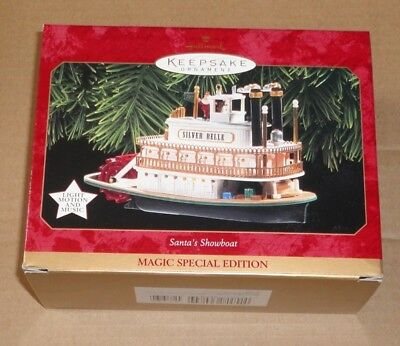 Hallmark Keepsake Ornament ~ Santas Showboat ~ With Magic Features ~ 1997 *new