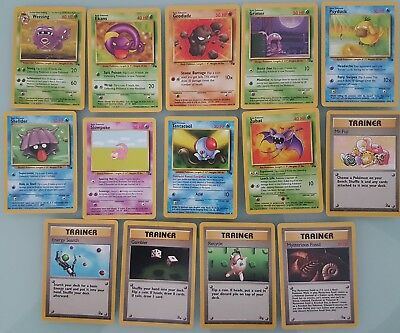 14x Fossil Pokemon cards in various condition