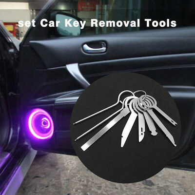 8Pcs Car Steel Removal Open Tools Key Kit Radio Audio CD Player Disassemble Tool