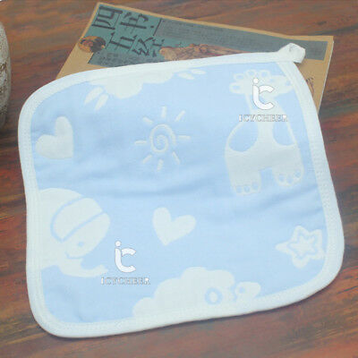 Baby Bath Washing Handkerchief Towel Cotton Washcloth Wipe Hand Face 25*25cm New