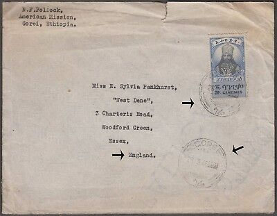 Ethiopia Scarce 1946 Cover With 1 Val From Gorei To Essex, Gb