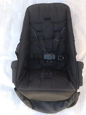 Black TOP SEAT Fabric Steelcraft Strider COMPACT with Round Button Harness.