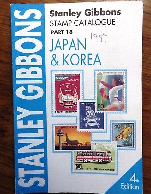 SG GIBBONS Catalogue Part 18 JAPAN KOREA 1997 4TH Edition in very good condition