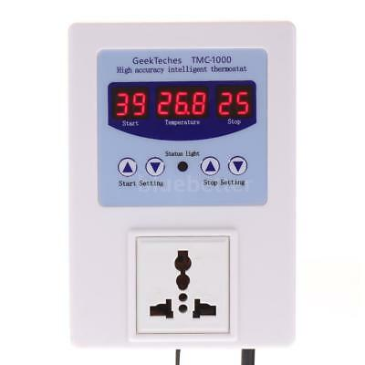 AC 110V 10A Digital LED Temperature Controller Thermostat Control Switch P7M2