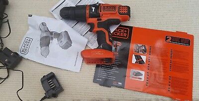 Black + Decker EGBL188K Li-Ion 2 Gear Hammer Drill 18 Volt + Kitbox