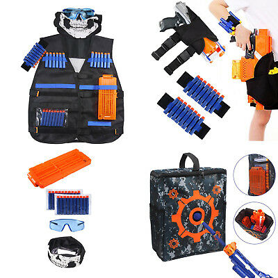 NEW Tactical Vest Kit for Nerf N-strike Elite Series Toy /Target Pouch/Waist Bag