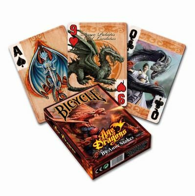 Anne Stokes New 2017 Bicycle Poker Playing Cards *AGE OF DRAGONS*