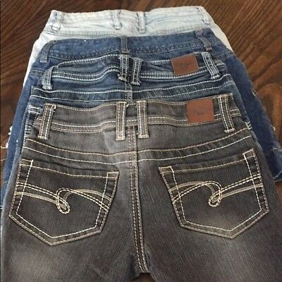 Justice for Girls Jean Shorts and Jean Skirts Size 8 Lot of 4