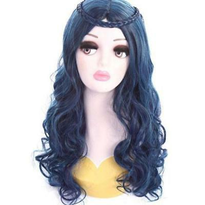 Long Blue Wave Wigs Halloween Cosplay Costume Wigs For Descendants 2 Evie Hot