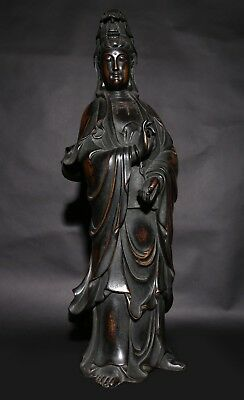 Gorgeous Antique Rare Old Vintage Chinese Buddha Standing Statue Kwan-yin AB148