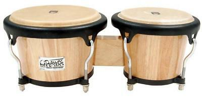 """Toca 7 & 8-1/2"""" Players Series Wooden Bongos in Natural"""