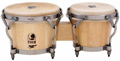 """Toca Traditional Series 7 & 8-1/2"""" Wooden Bongos in Natural"""
