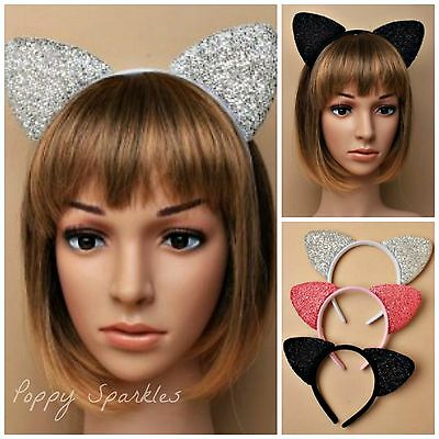 Cat Ears Headband - Sparkly, Glitter - Hen Party, Costume, Ariana Grande
