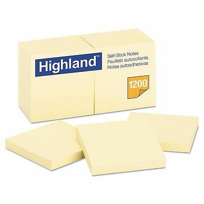 Office Yellow Self Stick 3 X 3 Sticky Post It Notes - 100 Sheets x 12 Note Pads