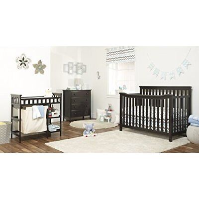 Nursery Baby Infant Furniture Set Of 3 Convertible Crip Changing Table, Dresser