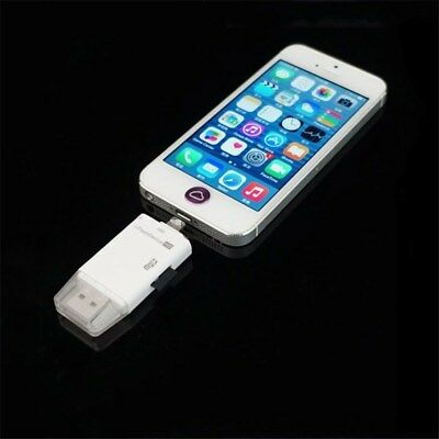 Portable High-Speed USB Flash Drive SD TF Card Reader For iPhone Android iPad
