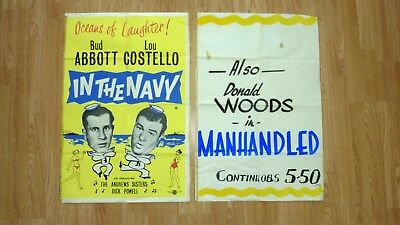 IN THE NAVY (1941) Original Vintage RR Movie Poster. Abbott and Costello