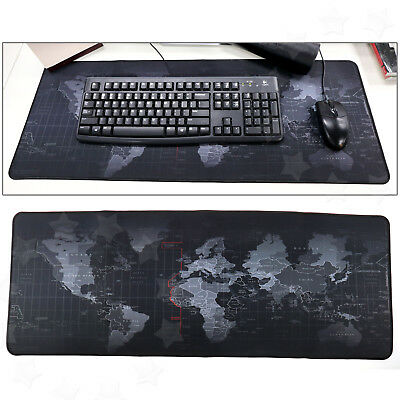 Large World Map Mouse Mat Pad Accessory 30x80cm For PC Laptop Computer Keyboard