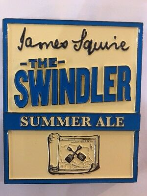 BRAND NEW James Squire Swindler Summer Ale Metal Beer Tap Badge - Mancave Collec