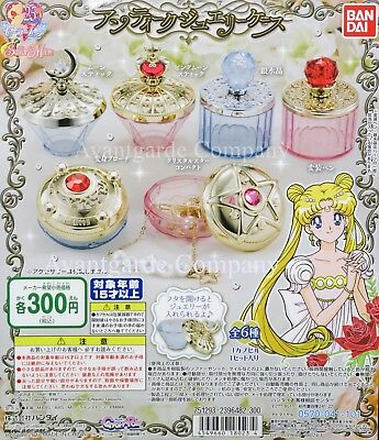 Bandai Sailor Moon, Antique Jewelry Case , Set Of 6 Gashapon 100% Real