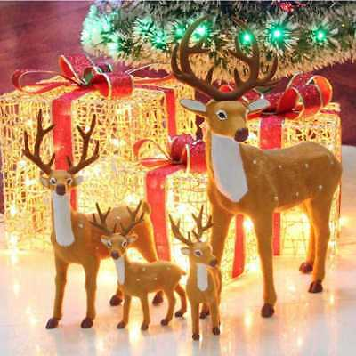 Christmas Reindeer Doll Xmas Shop Window Showcase Home Party Decor Ornament 2017