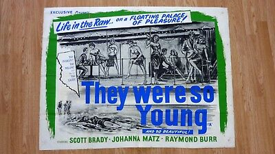THEY WERE SO YOUNG (1954) Original Vintage UK Quad 30x40 Movie Poster