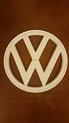 Vw Bus Baywindow Front Badge Off White Plastic 72-79 Camper Van Bus Type 2 7Inch