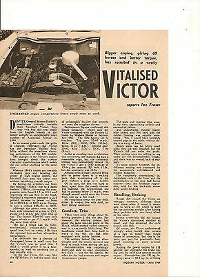 Original Vintage 1964 Australian 2 Page Feature On The Fb Vauxhall Victor