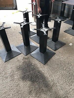Solid steel restaurant table stands