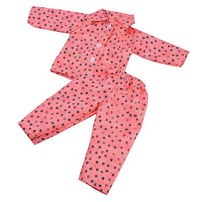 Cute Pajamas PJS Nightgown Clothes for 18 inch American Girl Doll Our Generation