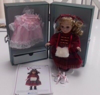 Atlas Editions Collectable Victoria Porcelain Doll, Case & Clothing