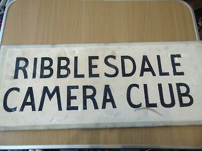 Original Vintage Ribblesdale Camera Club Sign