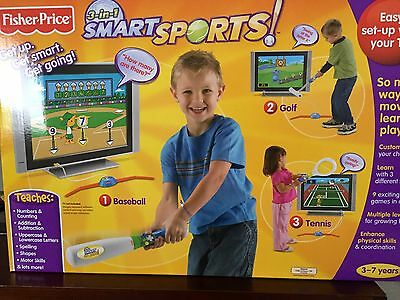 Smart Sports 3 In 1 Fisher Price Set Up On Your tV. FREE POSTAGE