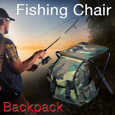 Folding Camping Chairs Portable Hiking Travel Fishing Outdoor Beach Backpack Bag