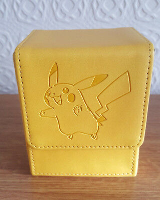 Pikachu Ultra Pro Flip Deck Box Card Storage For Standard Card Size Pokemon