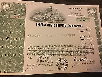 Rare vintage Perfect Film & Chemical  stock signed by Curtis Ackerman