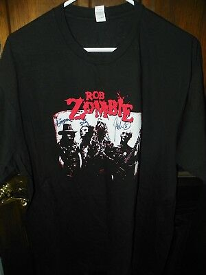 RARE NEW Signed Autographed TWINS OF EVIL 2012 TOUR ROB ZOMBIE CONCERT SHIRT X