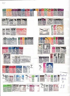 Finland  1930-1950rs Used list 94 stamps..See scan.