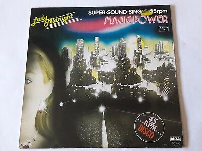 """Magic Power - Lady Midnight / Livin' For The Moment - 12"""" Vinyl - 1979"""