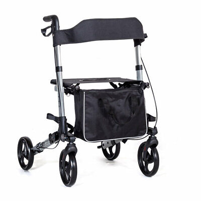 EC X Cruise walker folding lightweight 4 wheel rollator walking frame with seat