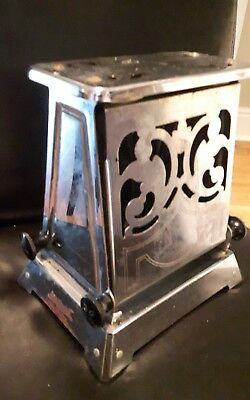 antique vintage toaster by Hotpoint Chrome NO CORD flips open see details!