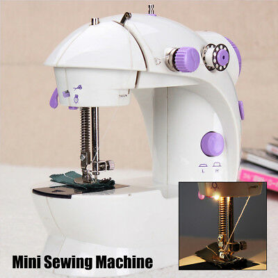 Multifunction Electric Mini Sewing hine Send Power Household Desktop With 16 Led