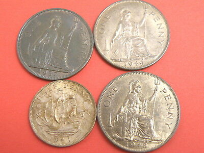 Small KING GEORGE VI COIN GROUP - PENNY & HALFPENNY COINS