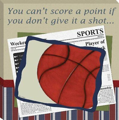 "Doodlefish Gallery Wrapped 18""x18"" Wall Art, Basketball in the News"